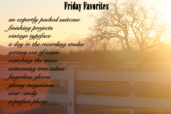 Friday favorites lovely indeed