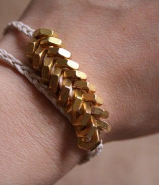diy hex nut bracelet thumbnail