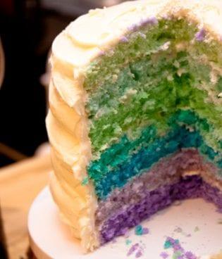 diy rainbow cake thumbnail