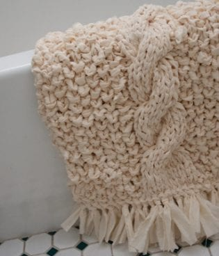 diy rag knit bathmat thumbnail