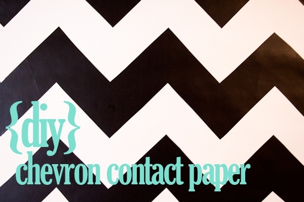 diy chevron contact paper » Lovely Indeed