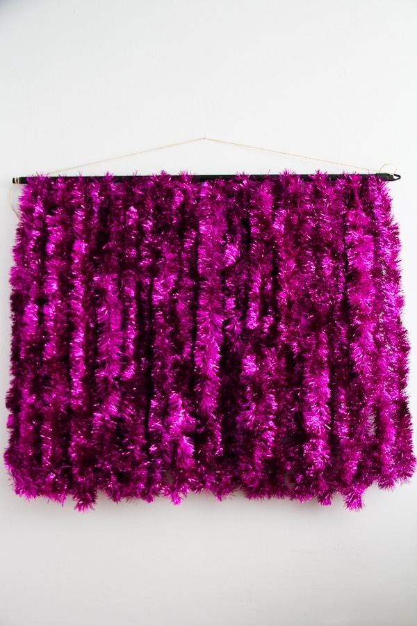 diy tinsel photobooth backdrop » Lovely Indeed