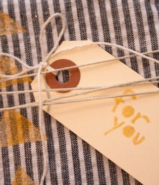 diy painted gift wrap on the sweetest occasion thumbnail