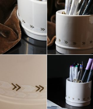 sharpie paint pens {diy pencil cup} thumbnail