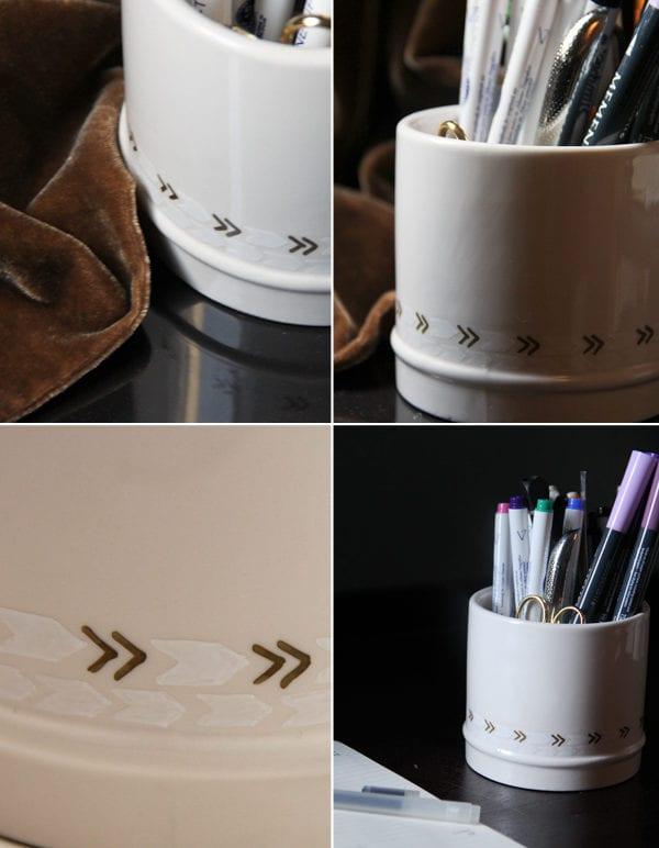 sharpie paint pens {diy pencil cup} thumbnail