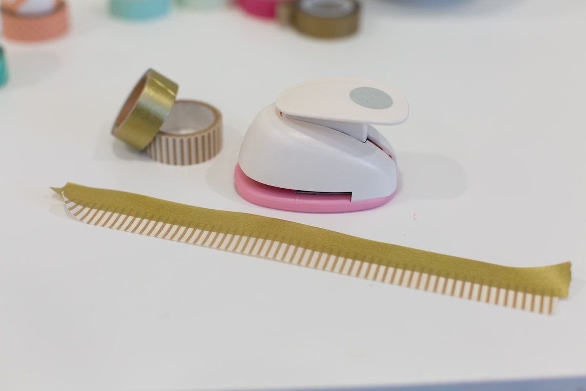 Layers of washi tape for decorating Easter eggs