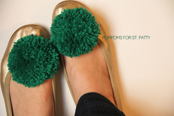 pompom trimmed shoes