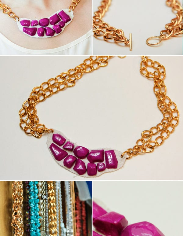 diy chunky necklace thumbnail