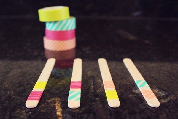 DIY Washi Tape Popsicle Sticks