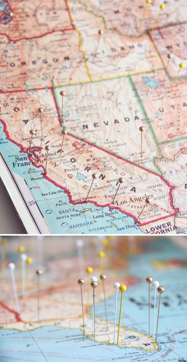 diy travel map – Travel Map Where I Ve Been