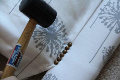 DIY Nailhead Trim Headboard