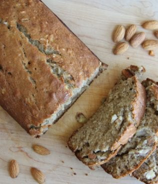 food // banana almond bread thumbnail
