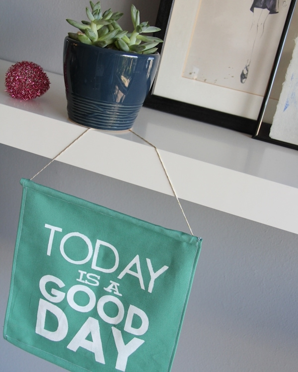 DIY Stenciled Word Sign