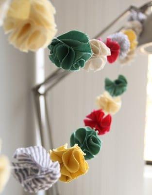 DIY Fabric Pompom Garland