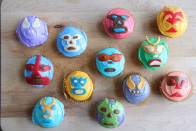 DIY Lucha Libre Cupcakes
