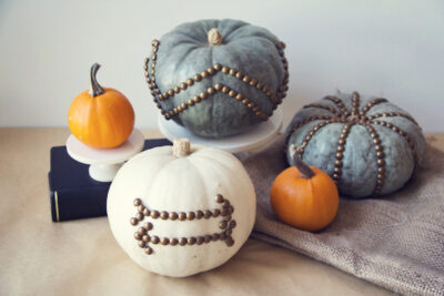 DIY Nailhead Trim Pumpkins