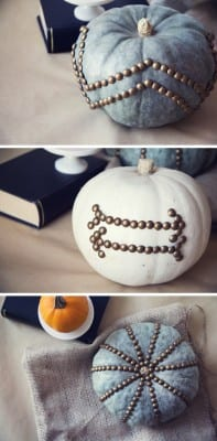 DIY Furniture Nail Pumpkins