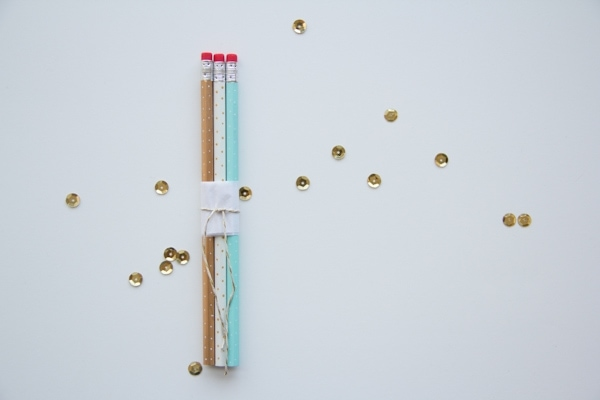 DIY Polka Dot Pencils