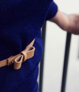 make and give // diy leather bow belt thumbnail