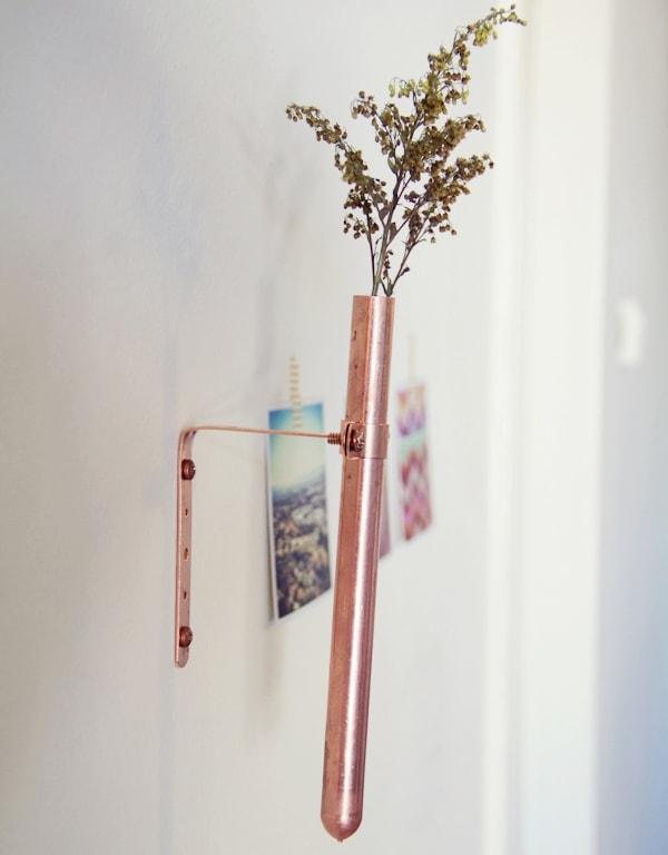 DIY Copper Bud Vase
