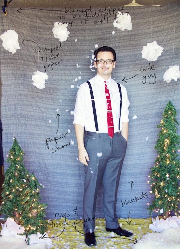 DIY Holiday Photo Backdrop