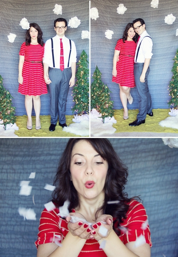 diy holiday photo backdrop