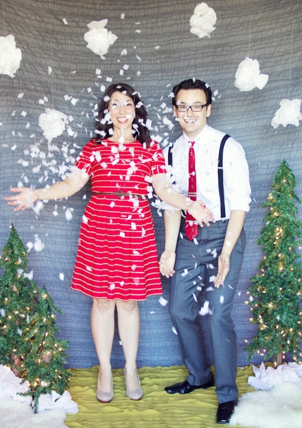 diy holiday photo backdrop share christmas photo booth