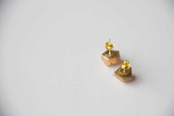 DIY Gold Nugget Earrings