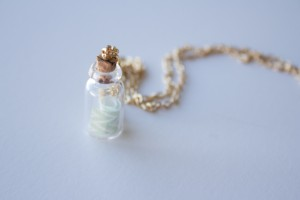 DIY Message in a Bottle Necklace