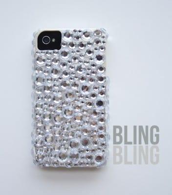 DIY Rhinestone iPhone Case