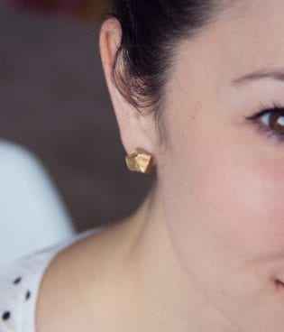 make and give // diy gold nugget earrings thumbnail