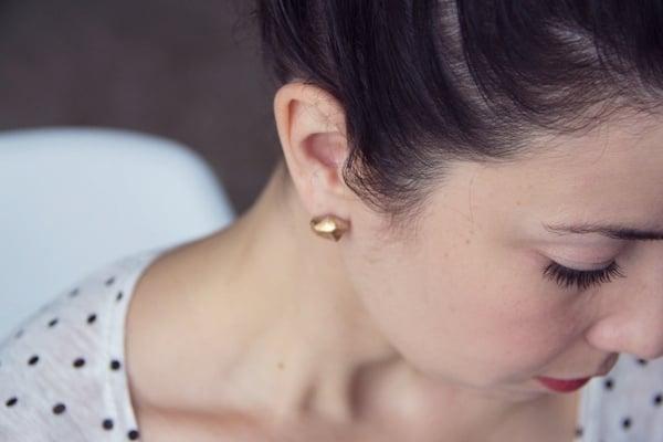 DIY Gold Nugget Earrings