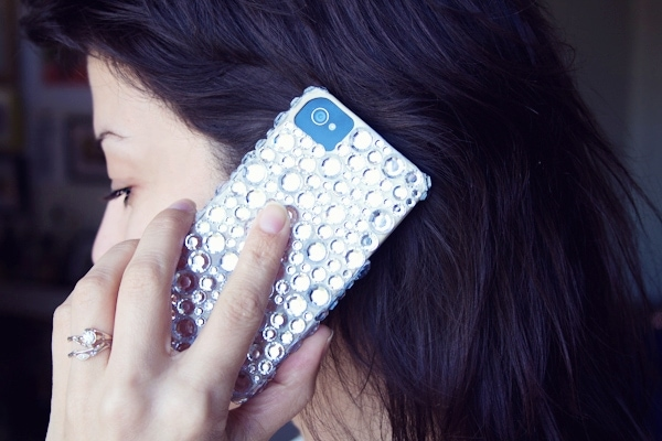 DIY Rhinestone iPhone Case