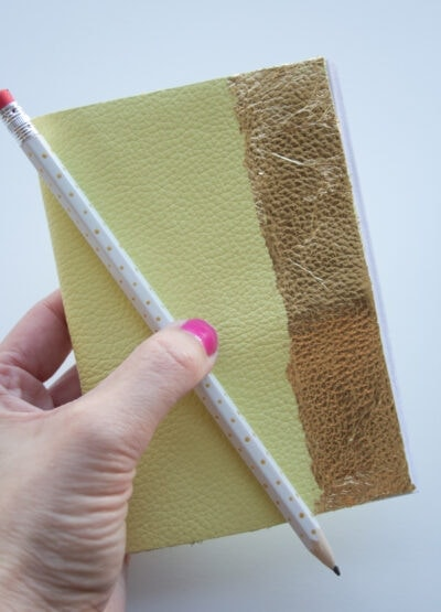 DIY Gilded Leather Notebook
