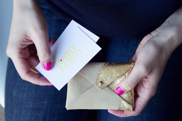 Diy gilded leather business card case win it lovely indeed diy gold leaf business card case colourmoves