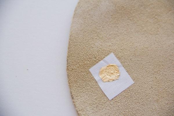 DIY Gold Polka Dot Mousepad