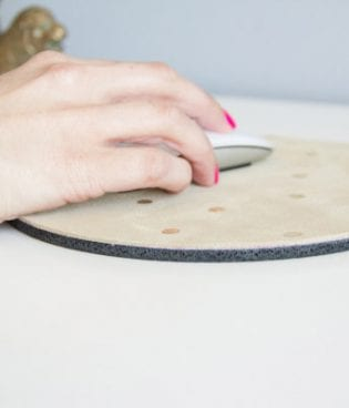 DIY Suede and Gold Leaf Polka Dot Mousepad thumbnail