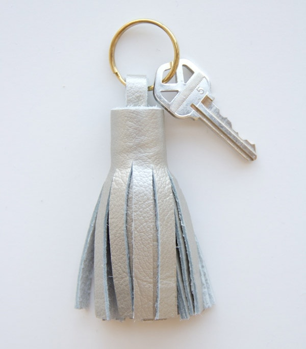 DIY Leather Tassel Keyring