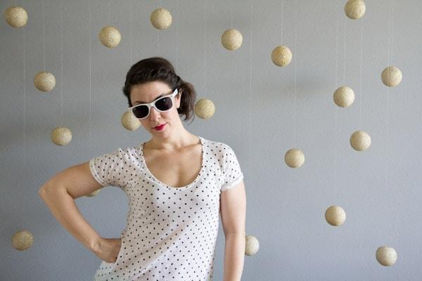 DIY Polka Dot Photobooth Backdrop