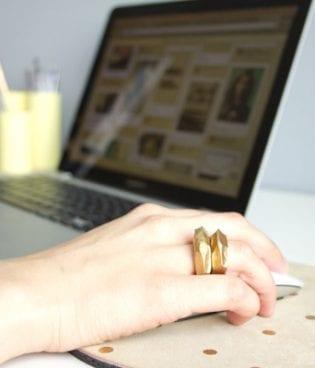 DIY Faceted Clay Rings on Poppytalk thumbnail