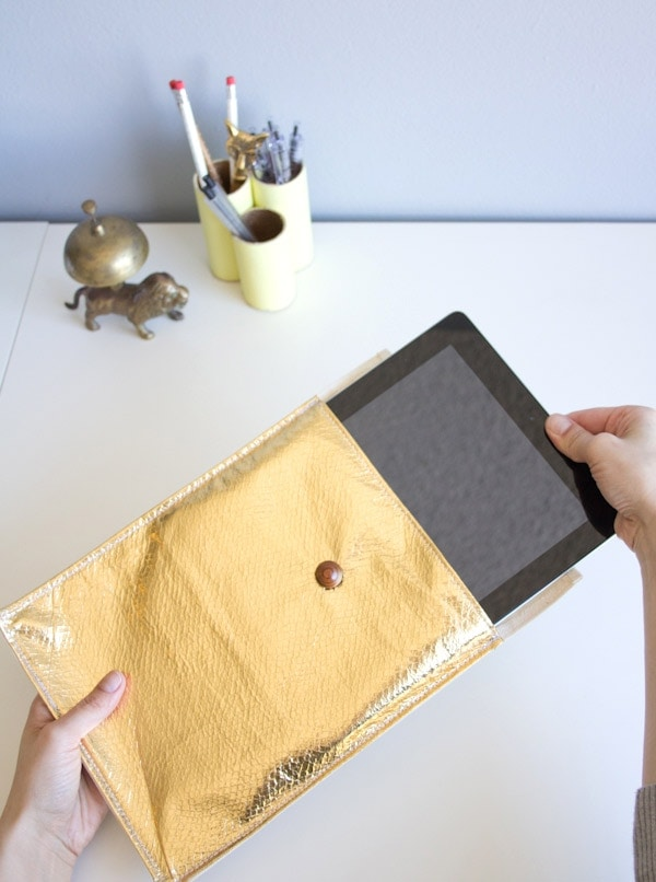 DIY Faux Leather iPad Sleeve