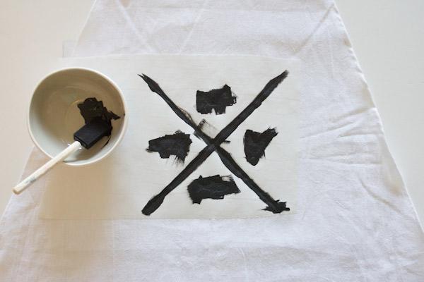 DIY stenciled apron
