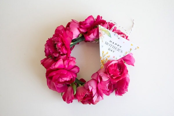 DIY Floral Bangle Bracelets & Mother's Day Gift Tag