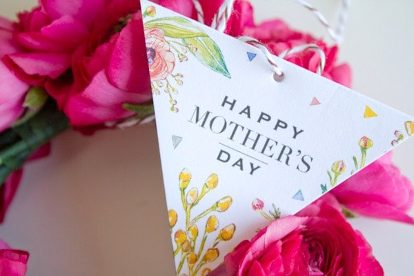 Mother S Day Tags: DIY Floral Bangle Bracelets & Mother's Day Gift Tag