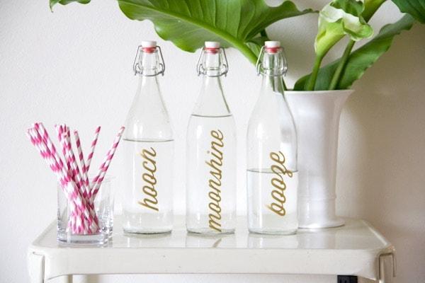 DIY Bar Bottle Labels