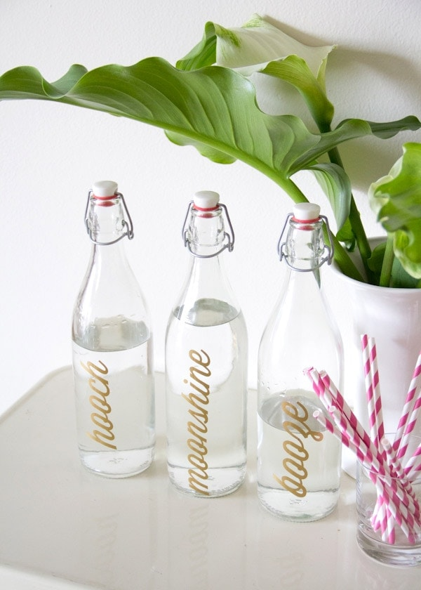 DIY Bar Bottle Labels