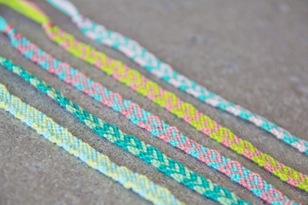 DIY Mother's Day Heart Friendship Bracelets