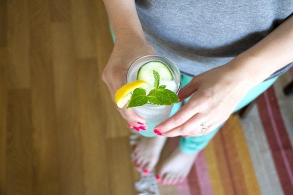 Cucumber Lemon Mint Water
