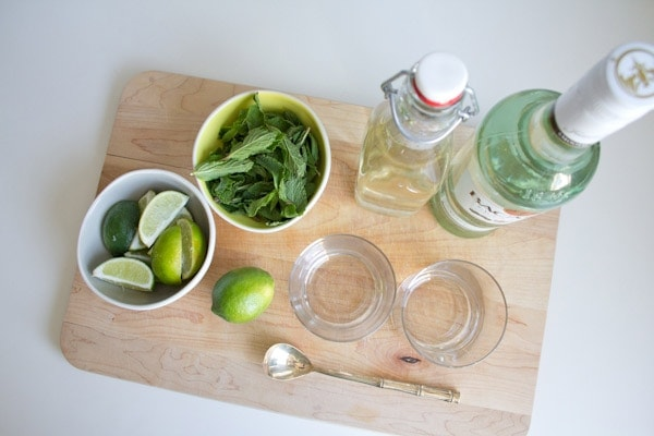 Bottoms Up // Mojitos with Homemade Simple Syrup