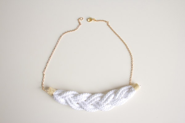 DIY Braided Rope Necklace